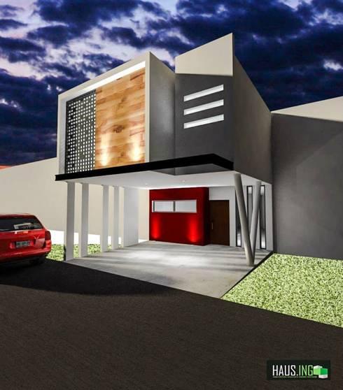 CASA SO: Casas de estilo moderno por hausing arquitectura