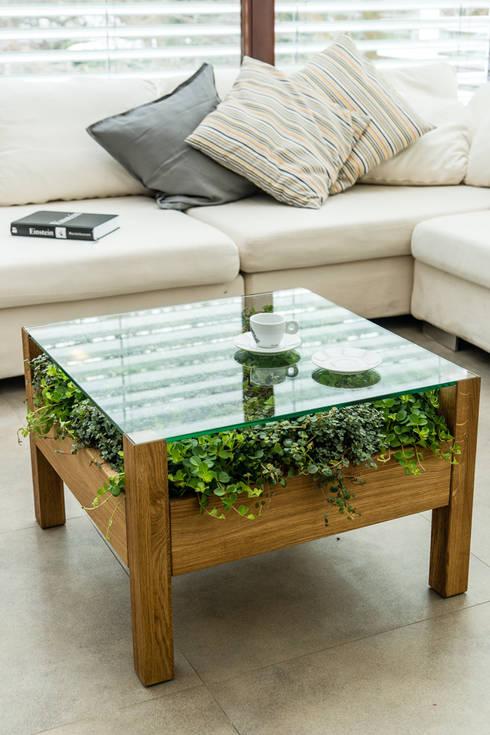 bio stolik POLLI: styl , w kategorii Balkon, weranda i taras zaprojektowany przez APPO projekt