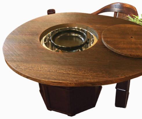 焼桐卵形囲炉裏テーブル: 桐里工房が手掛けたダイニングルームです。