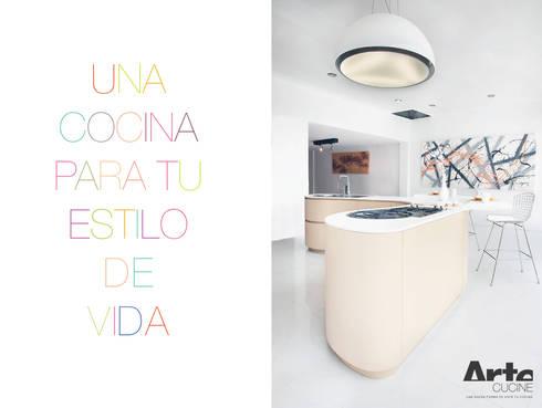 COCINA DUNE : Cocinas de estilo moderno por ARTE CUCINE/ PEDINI SAN ANGEL