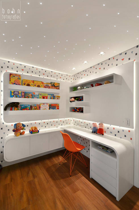 Nursery/kid's room by Carolina Burin Arquitetura Ltda