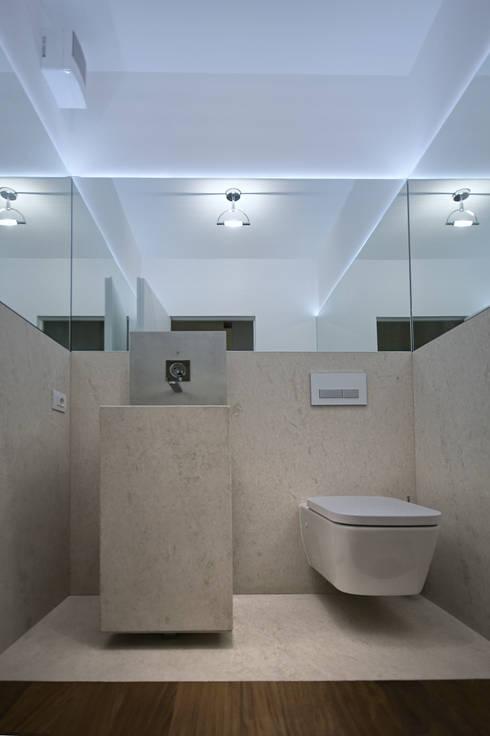 minimalistic Bathroom by STUDIO ARCHITETTURA MASSIMO NODARI