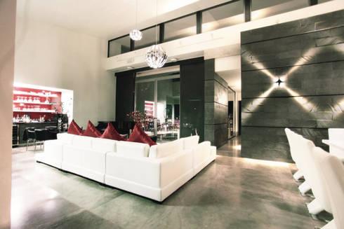 Vista de espacio interior: Salas de estilo moderno por Diez y Nueve Grados Arquitectos