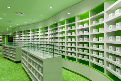 Careland Pharmacy:  Offices & stores by Sergio Mannino Studio