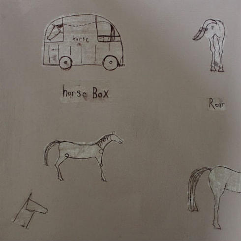 HORSE BOX:  Artwork by Clare Haxby Art Studio
