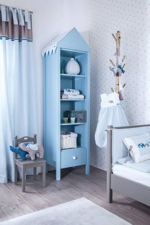 Elefanten babyzimmer kinderzimmer by annette frank gmbh homify for Vorhangschal kinderzimmer