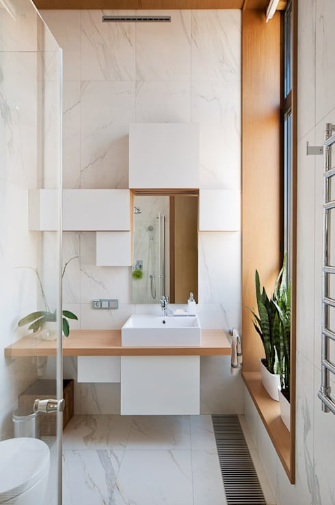 浴室 by Студия экспериментального проектирования 'Rakurs'