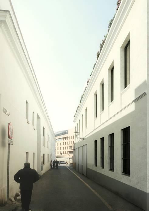 Fachada principal: Casas de estilo clásico de lacooperativaarquitectos