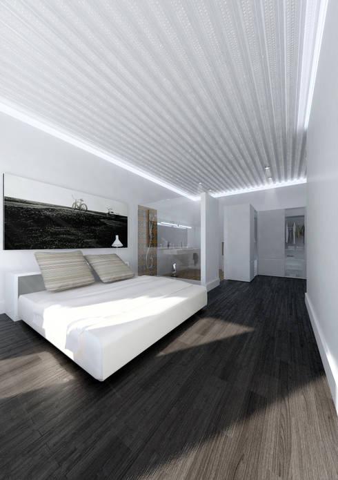 Habitación principal: Dormitorios de estilo moderno de lacooperativaarquitectos
