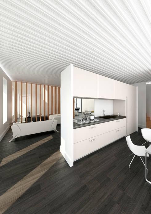 Cocina integrada: Cocinas de estilo moderno de lacooperativaarquitectos