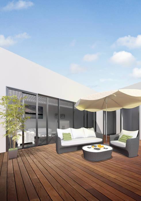 Terraza del ático: Terrazas de estilo  de lacooperativaarquitectos