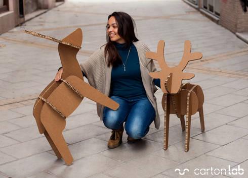 Figuras de cartón. cartonLAB.: Habitaciones infantiles de estilo  de CartonLab