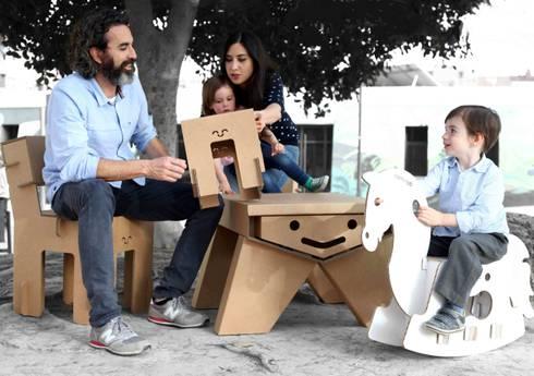 Muebles de cartón.: Hogar de estilo  de CartonLab