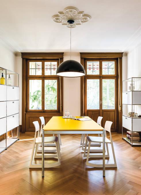 Dining room by USM Möbelbausysteme