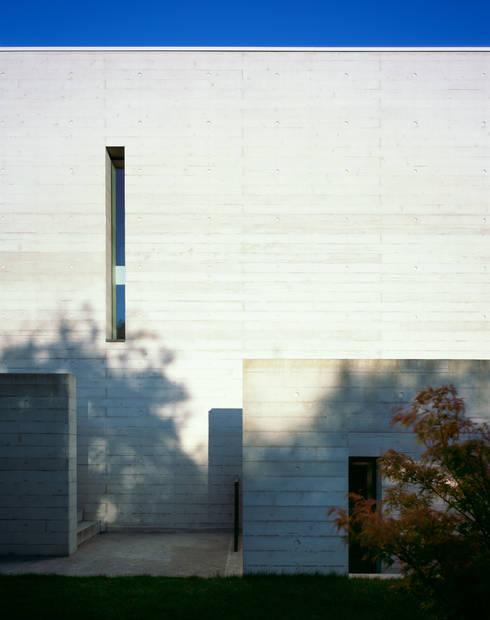Detail Fassade: minimalistische Häuser von PaulBretz Architectes