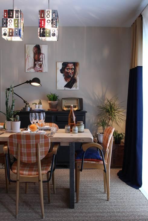 Héritage moderne: Salle à manger de style de style eclectique par La Valise Rouge