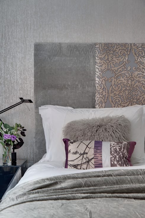 West End Apartment: modern Bedroom by Nicola Holden Designs