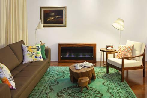 Casa Ideal 2012_Interiores: Salas de estar coloniais por Tiago Patricio Rodrigues, Arquitectura e Interiores