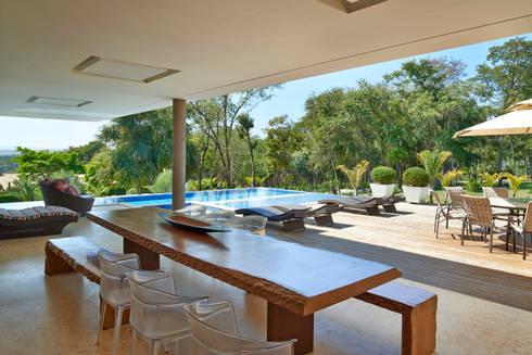 Lazer, Casa Amendoeiras.: Piscinas modernas por Beth Marquez Interiores