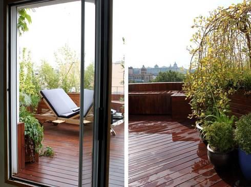 Terraza peque a en madrid dise o y reforma de terraza de for Disenos de terrazas pequenas