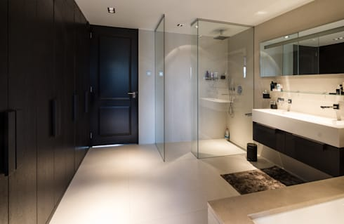 Woonhuis Rotterdam: moderne Badkamer door Blokland Interieurbouw