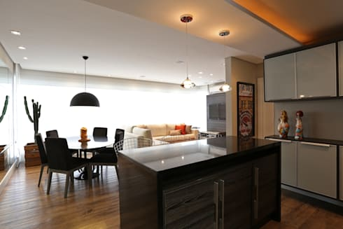 APARTAMENTO AV IGUAÇU: Salas de estar modernas por DIARNA GUS ESCRITORIO DE ARQUITETURA