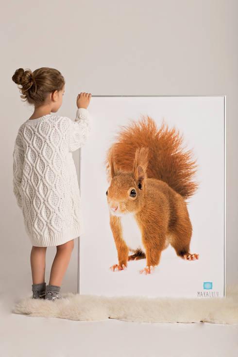 Plakat Wiewiórka: styl , w kategorii Ściany i podłogi zaprojektowany przez Makalulu