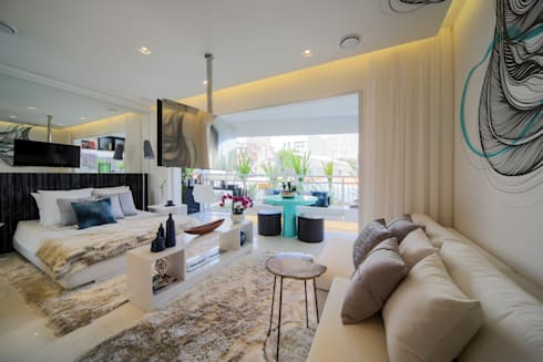 ONNI_Eugênio de Medeiros: Salas de estar modernas por Chris Silveira & Arquitetos Associados