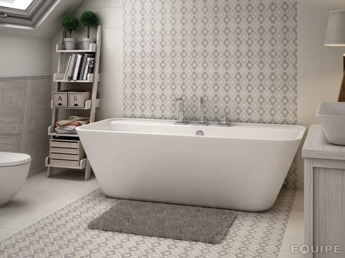 Caprice DECO Bowtie Pastel 20x20: Baños de estilo moderno de Equipe Ceramicas