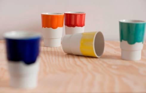 Bekers porselein: industriële Keuken door Design X Ambacht