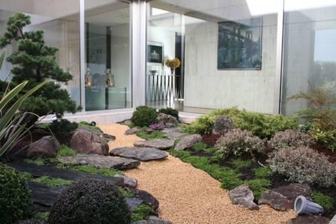 Jardin japones con Niwaki: Jardines de estilo asiático de Jardines Japoneses -- Estudio de Paisajismo