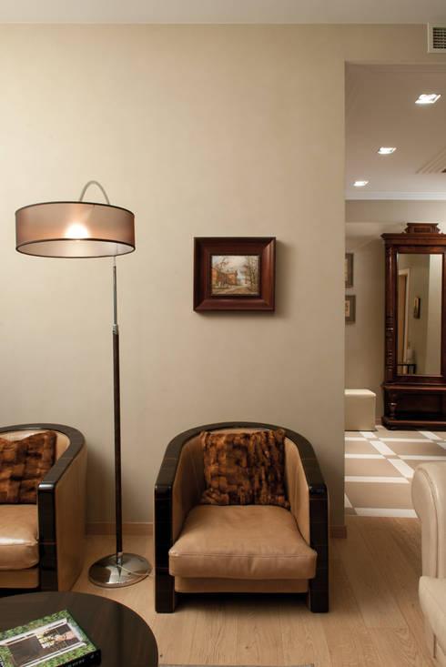 гостиная, торшер: Гостиная в . Автор – LDdesign