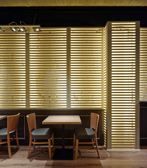 Restaurantes de estilo  por Carlos Martinez Interiors