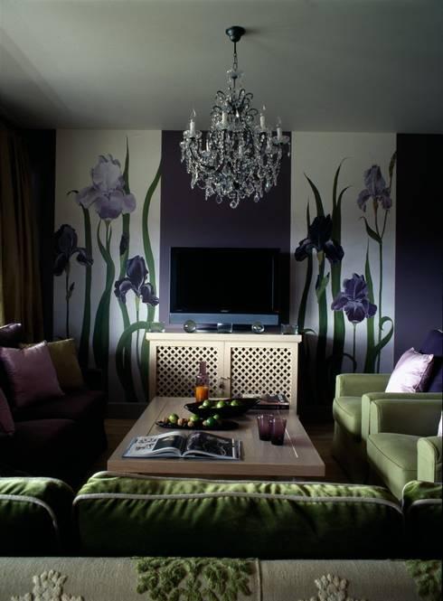 Квартира в Москве в Крылатском: Гостиная в . Автор – Дизайн бюро Татьяны Алениной