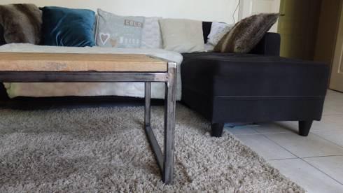 bg meubles industriels et contemporain table basse plateau recycl homify. Black Bedroom Furniture Sets. Home Design Ideas