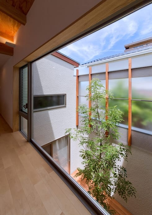 中庭: 森建築設計室が手掛けた庭です。