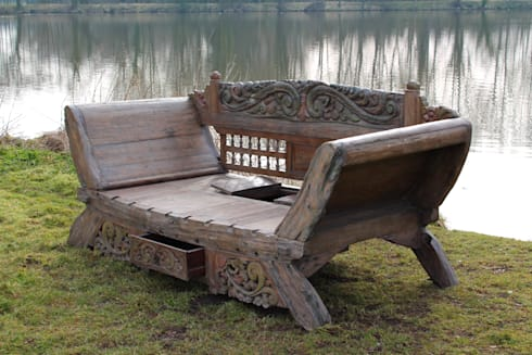 Bali majestic Day Bed Bench  Garden by Garden Furniture Centre. Reclaimed Teak Furniture by Garden Furniture Centre   homify