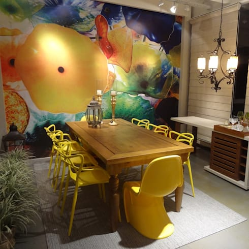 Cadeira Allegra e Panton: Casa  por Rivatti Móveis