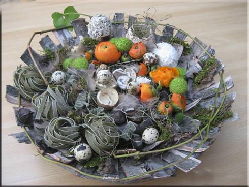 Paasdecoratie: landelijke Woonkamer door Pasencreatief