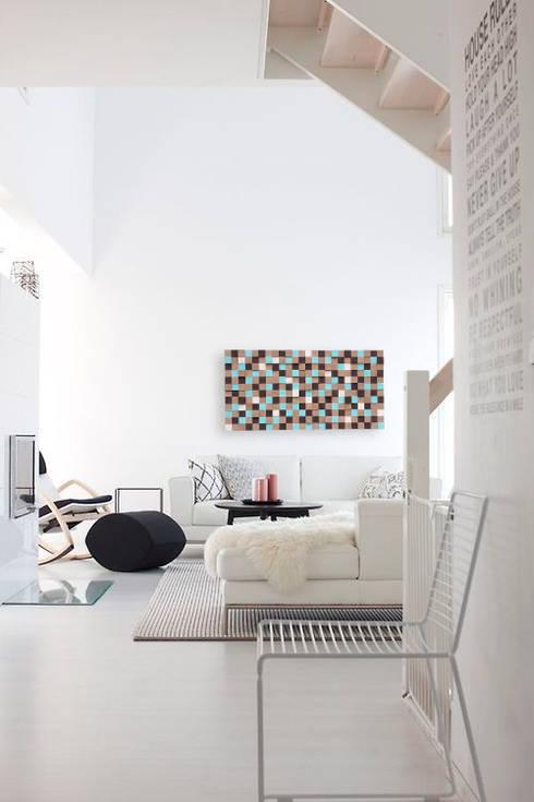 Mozaika drewniana: styl , w kategorii Ściany i podłogi zaprojektowany przez DrewnianaŚciana