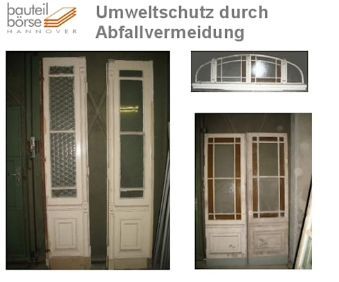Für LieberhaberInnen extravaganter Einzelstücke: klassische Fenster & Tür von Bauteilbörse Hannover