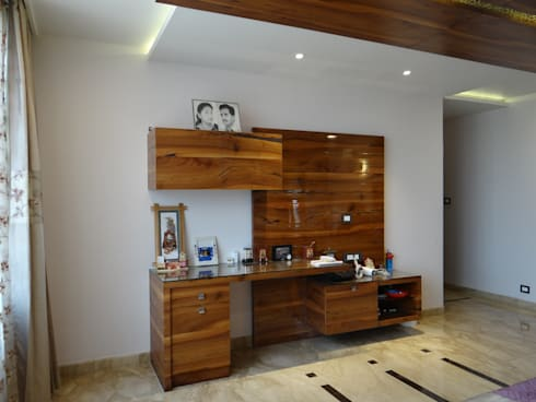 The Study and Tv unit : modern Bedroom by Hasta architects