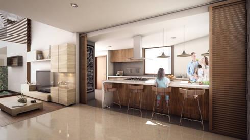 Rancho San Juan: Cocinas de estilo moderno por Pure Design