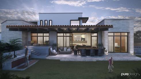 Rancho San Juan: Casas de estilo moderno por Pure Design