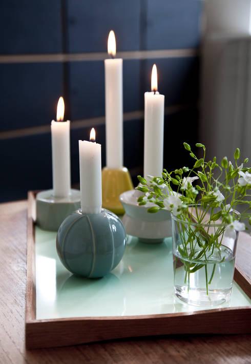 Kerzenständer von Kähler Design:  Wohnzimmer von Stilherz