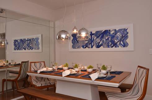 Apartamento Vila Olímpia /SP: Salas de jantar modernas por Renata Romeiro Interiores