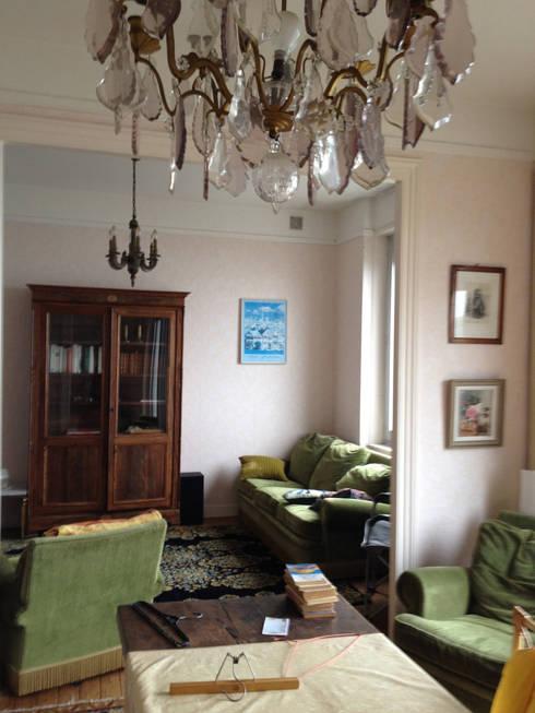 salon / salle à manger avant:  de style  par ALM Archi Design