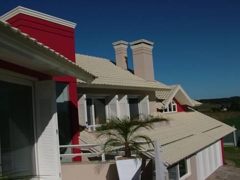 Residência para Descanso: Terraços  por Escritório de Arquitetura Margit A. Fensterseifer