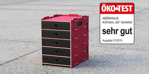 ausgezeichnet werkhaus archivbox 5er in dunkelrot von. Black Bedroom Furniture Sets. Home Design Ideas