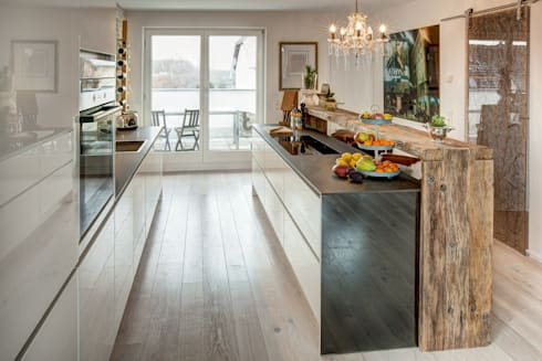 Küche Modern und Altholztheke von ZABOROWSKI ** Kreativer ... | {Küche modern 64}